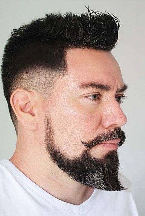 Загострені еспаньйолка і вуса утворюють бороду в стилі Ван Дейка