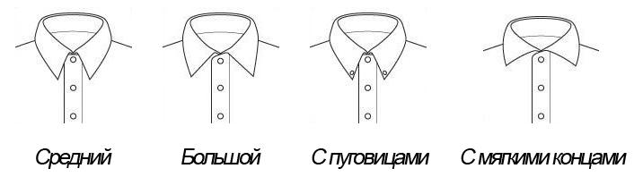 Подходящие воротники рубашки к узлу Элдридж