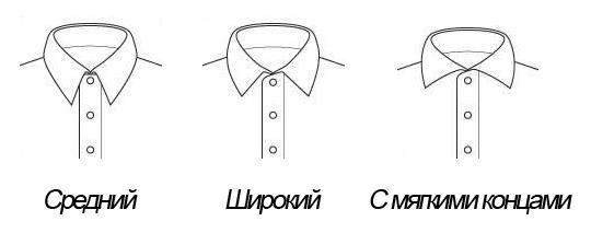 Подходящие воротники рубашки к узлу Виндзор