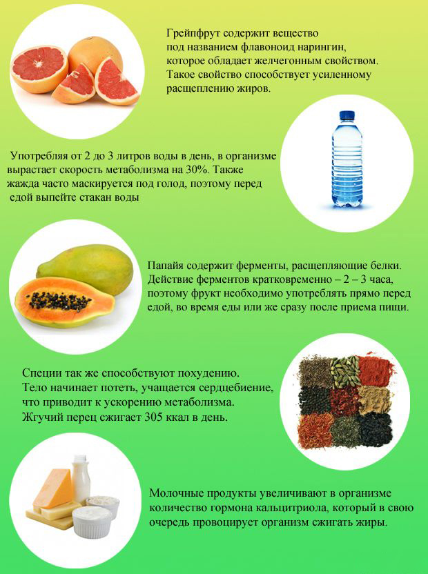 5 сжигающих жир продуктов