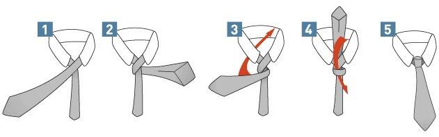 Простой и быстрый способ завязать галстук