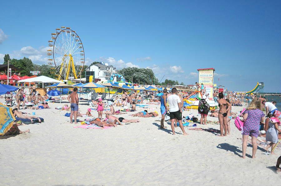 Колесо огляду на пляжі