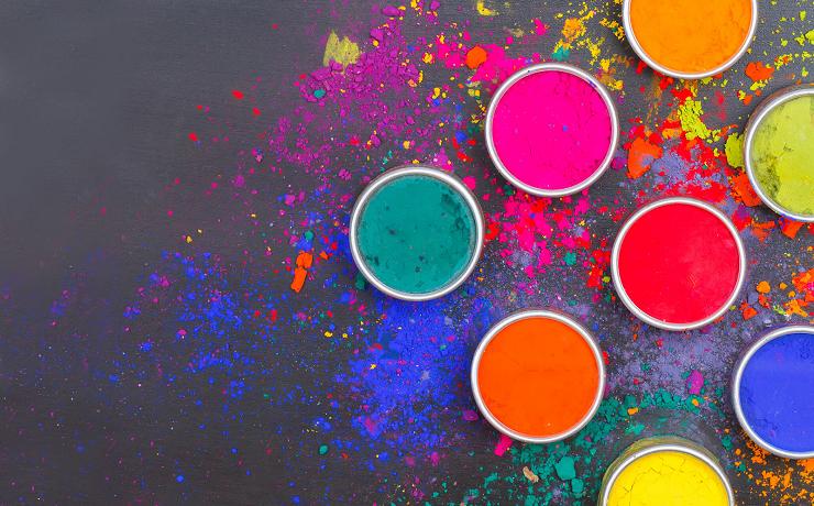 Яскраві фарби холі можна зробити своїми руками
