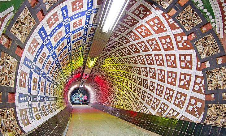 Мозаичный тоннель к санаторию «Магнолия»
