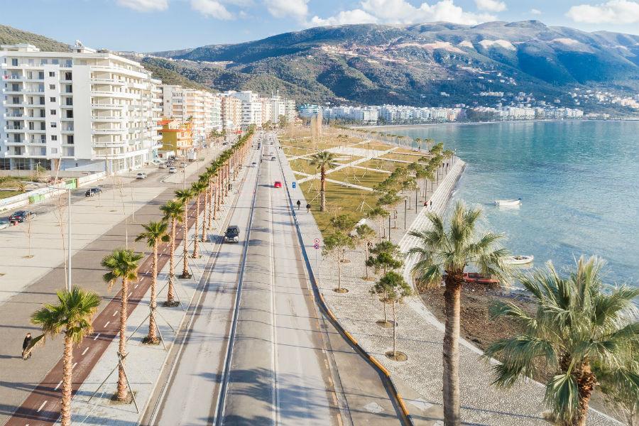 Набережная Влёры Waterfront promenade