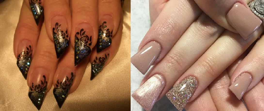 фото красивый дизайн для скошенных ногтей сразу