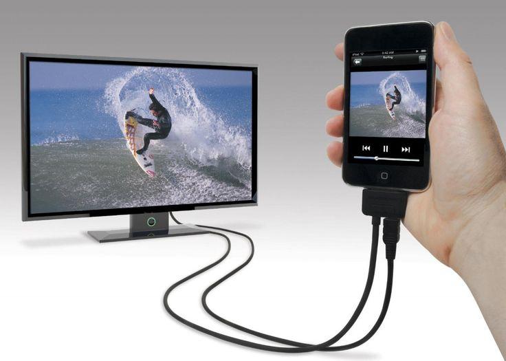 Подключение к телевизору через кабель