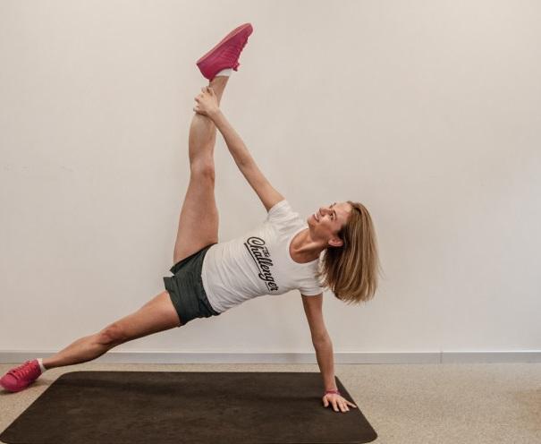 Упражнения на растяжку №4: в боковой планке