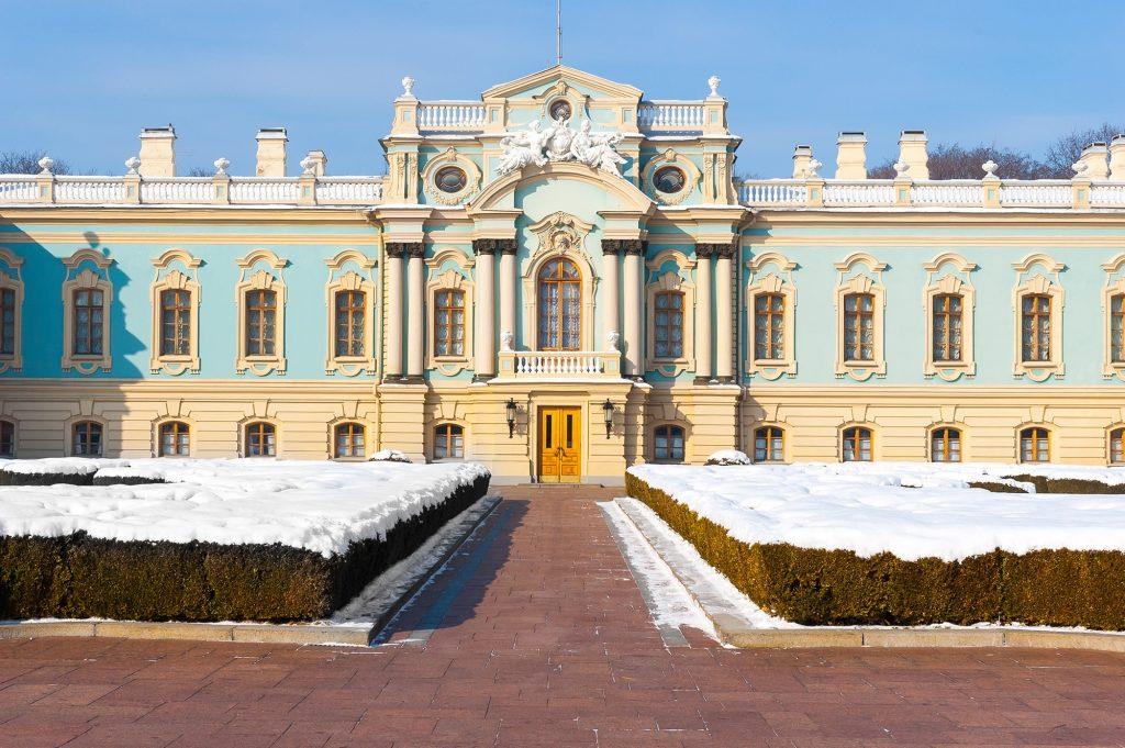 Вид на центральный вход в Мариинский дворец