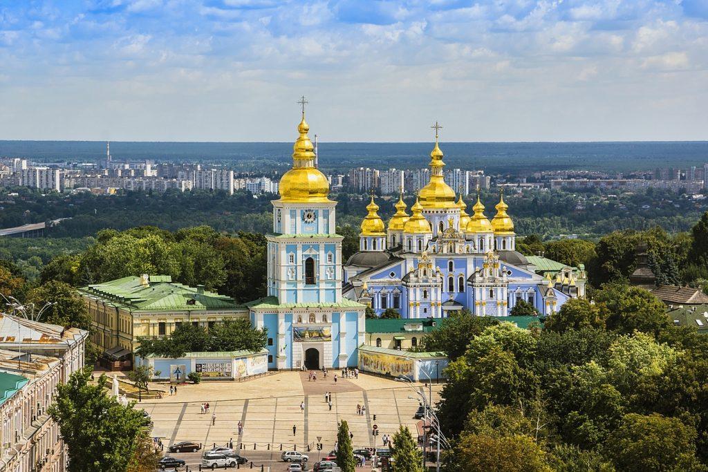 Михайловский монастырь, вид сверху