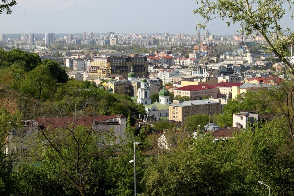 Панорама Подола с Пейзажной Аллеи