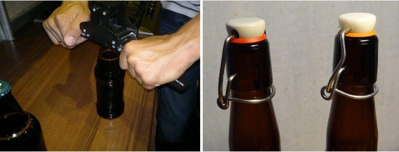 Методы закупорки бутылок с пивом