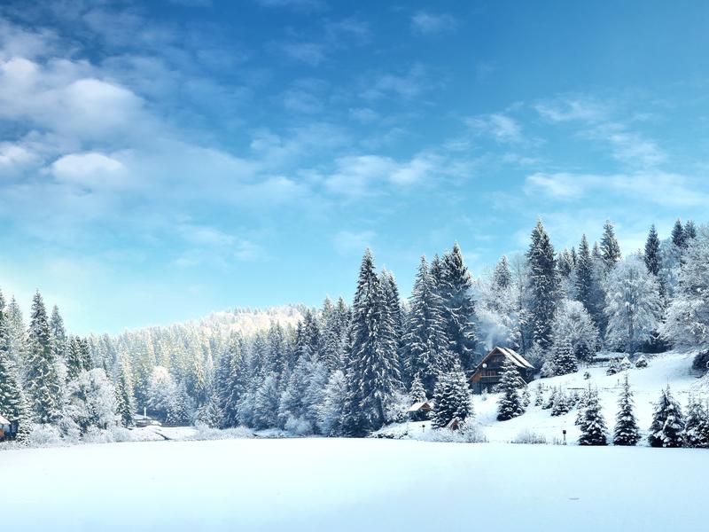 Новый год в горах ㅡ это прекрасные пейзажи