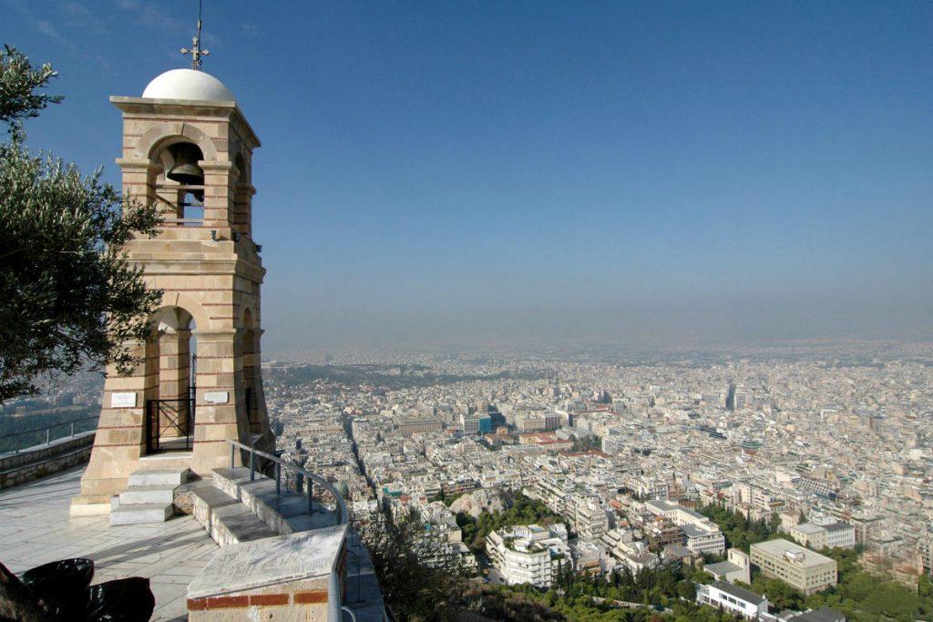 Панорама Афін, вид з пагорба Лікавітос