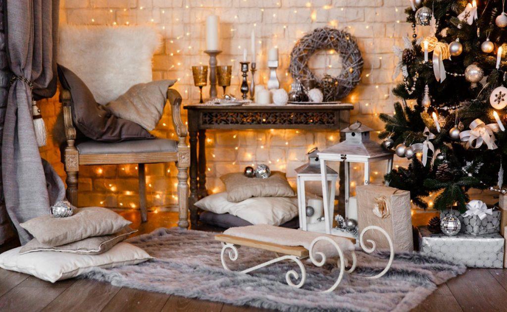 Новогодние украшения в скандинавском стиле