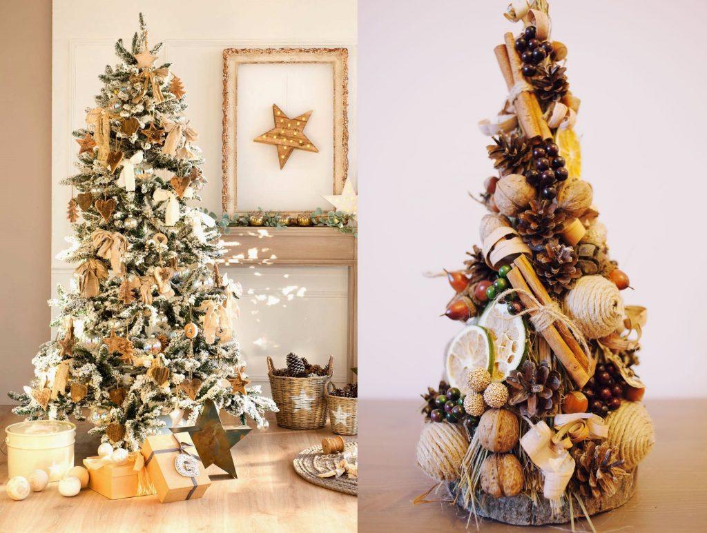Декор елки в эко-стиле