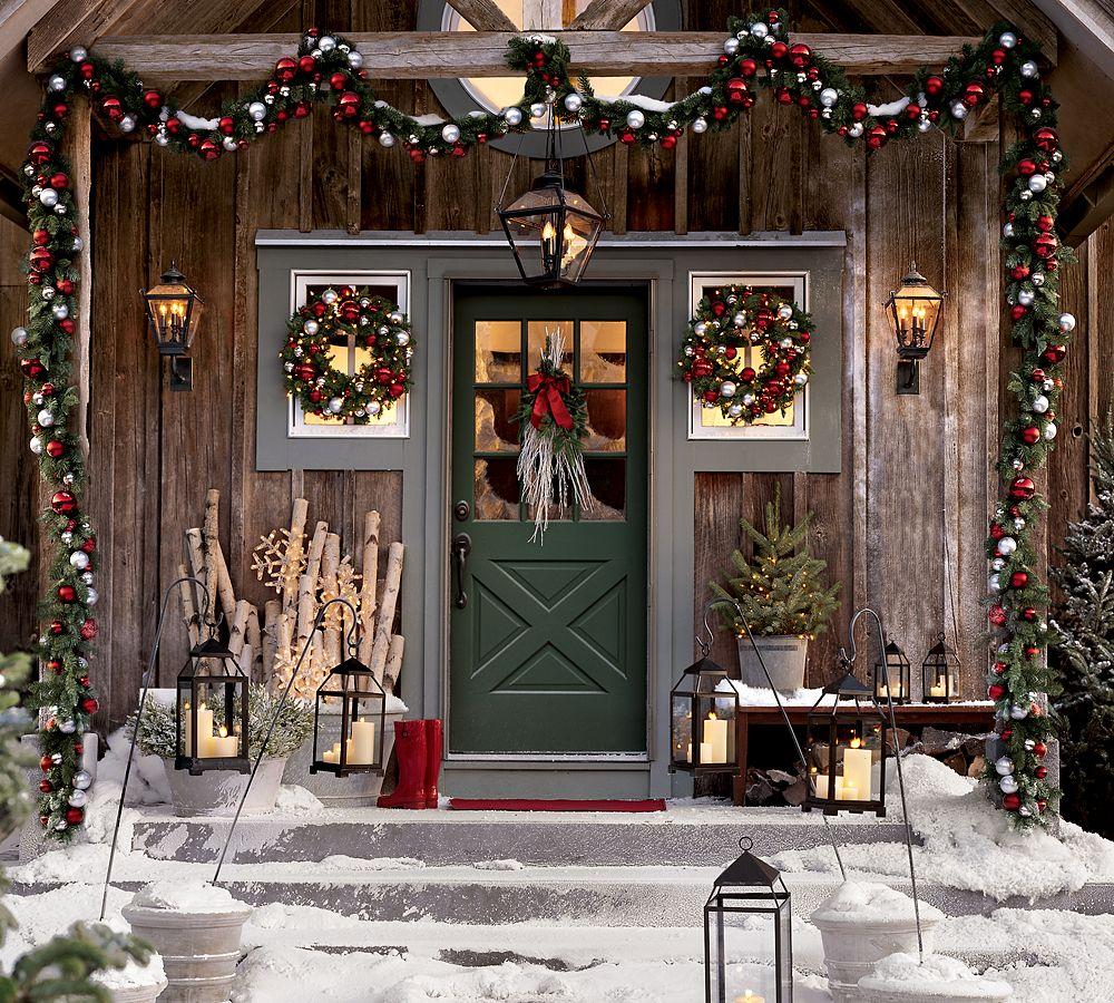 Новогодние украшения во французском стиле (снаружи)