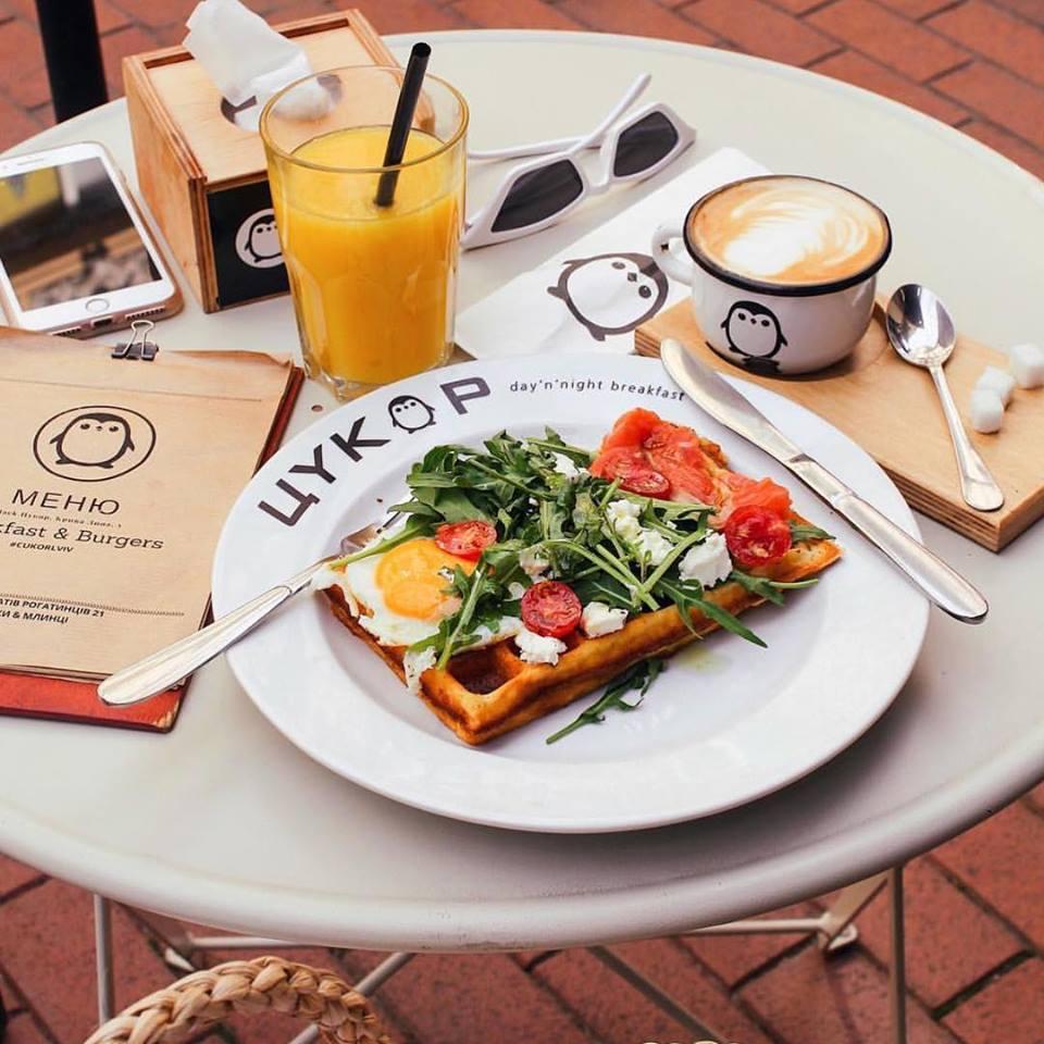 Завтраки в ресторане Цукор Львов
