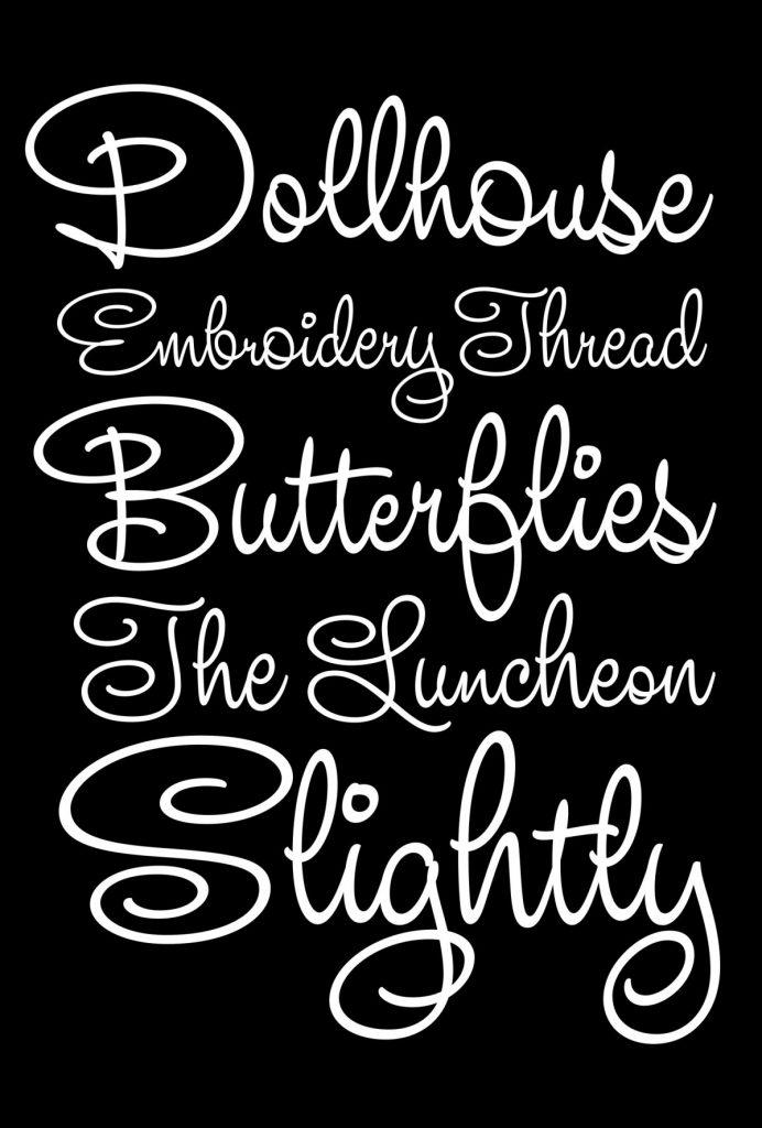 Белый шрифт на черном фоне