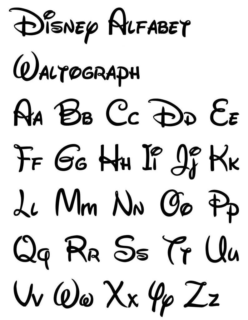 Диснеевский шрифт