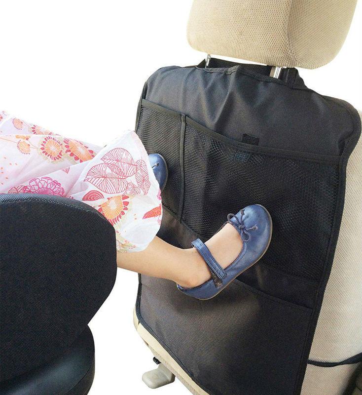Чехол-накидка на сиденье авто не только защищает обивку салона, но и служит удобным органайзером