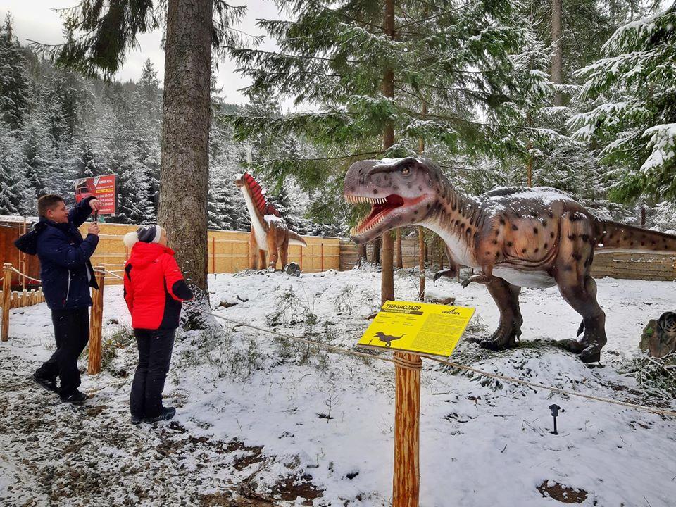 Парк динозавров в Буковеле