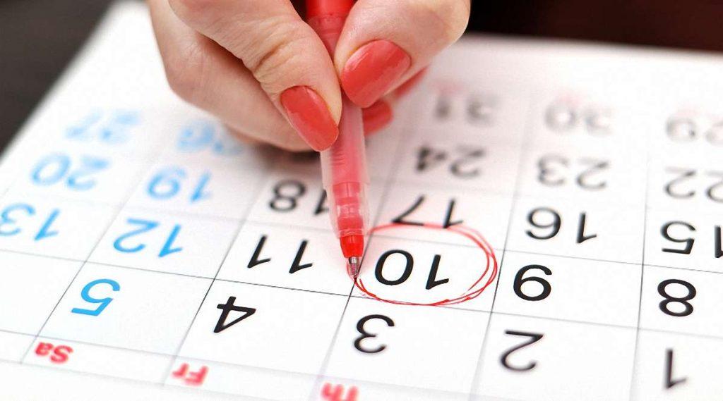Календарний метод розрахунку овуляції