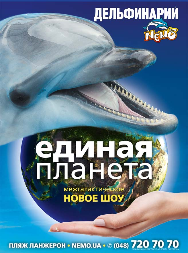 Добро пожаловать на супер-шоу в дельфинарии «Немо»