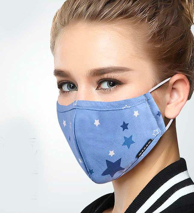 Стильная маска из ткани