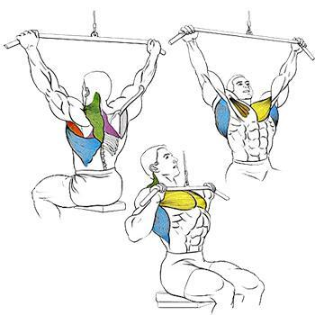 Вертикальная тяга к груди
