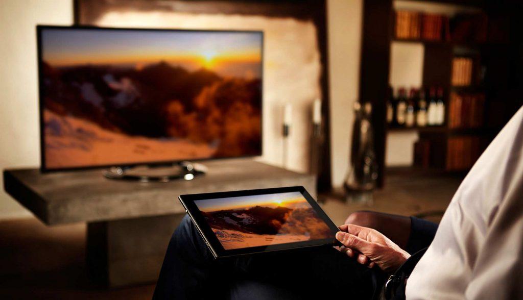 Трансляция экрана планшета на монитор телевизора через сеть Wi-Fi