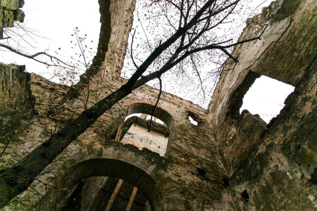 Усередині руїн замку Фальц-Фейнів