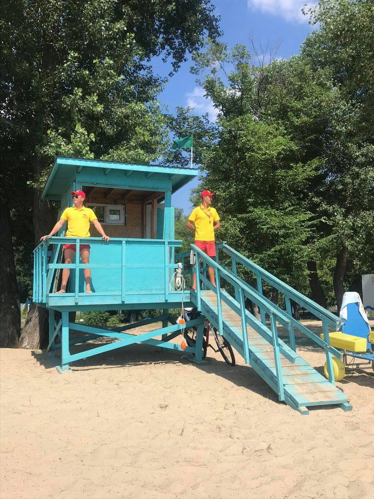 Спасательный пункт на «Golden Beach» в Гидропарке