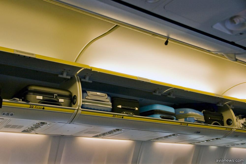 Размер ручной клади всегда определяется максимальным количеством пассажиров и грузоподъемностью самолета