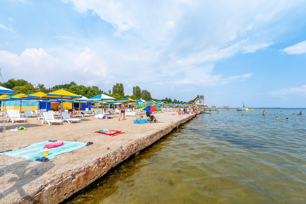 Центральный пляж Скадовска