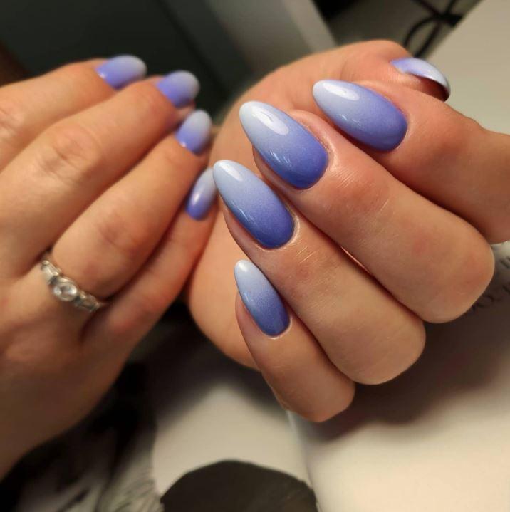 Чим довші нігті. тим більш ефектно виглядає градієнт