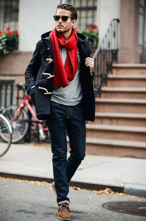 Червоний шарф «Вишуканий стиль»