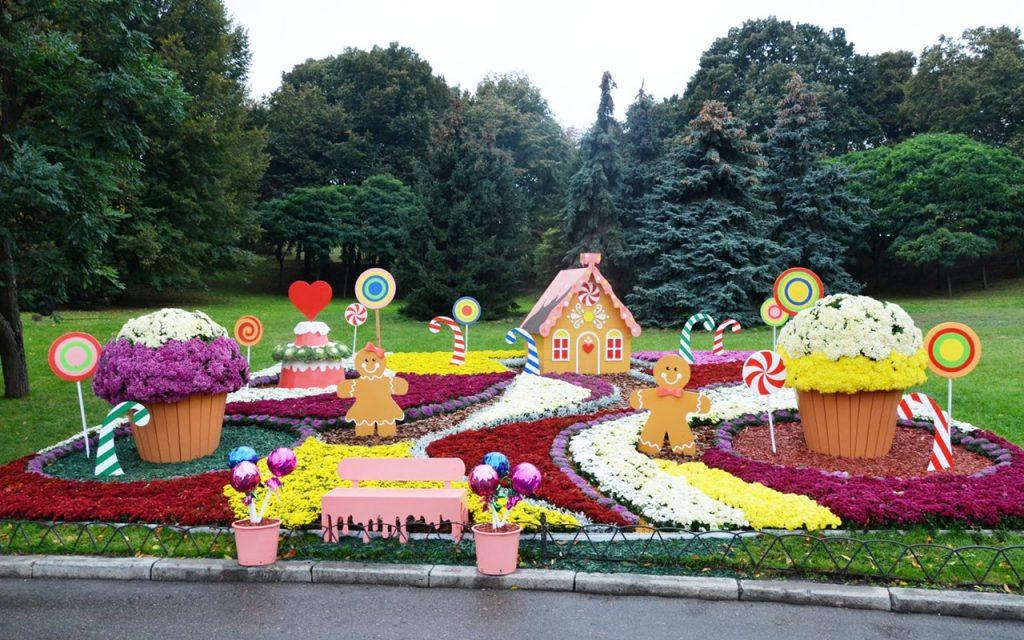 Выставка хризантем «Мир сладостей» на Певчем поле в Киеве до 1 ноября 2020
