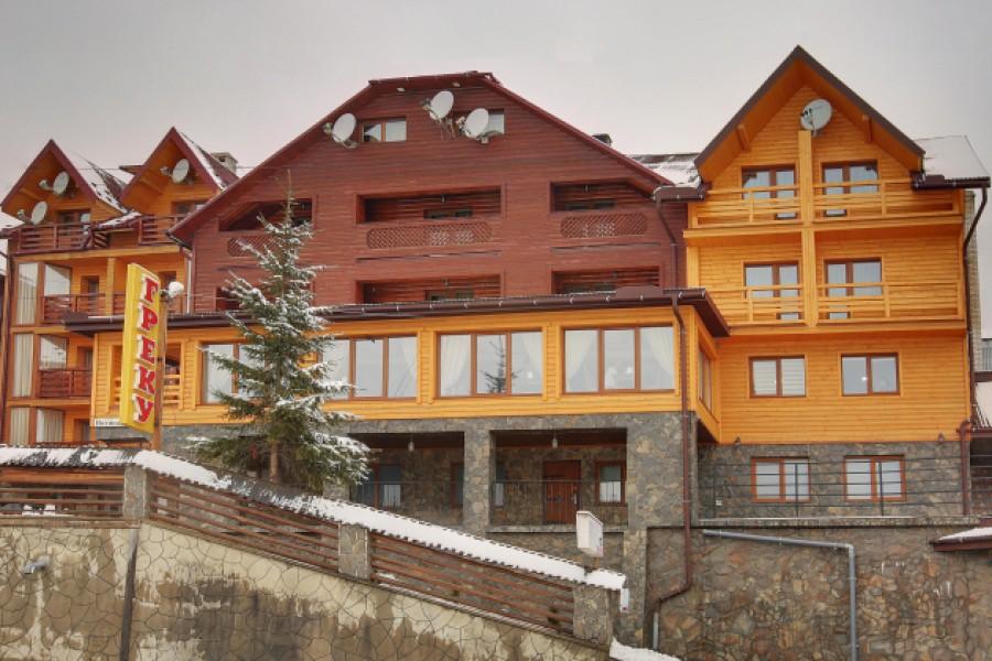 Готель «Греку» недалеко від гірськолижного комплексу  «Буковель»