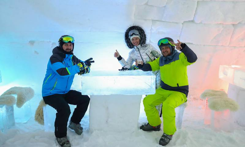 Ледяной бар «Ice Land» в Буковеле