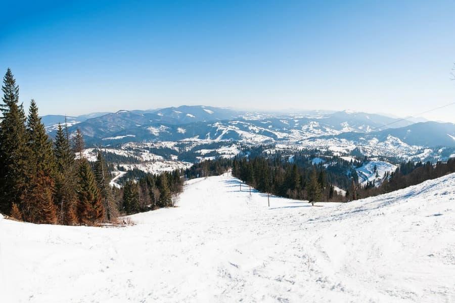 Зимний лыжный курорт Славское, Львовская область