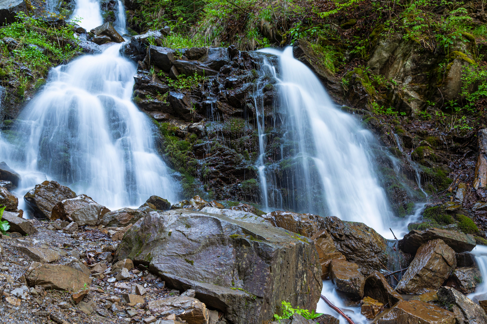 Водопад Труфанец, 30 км от Буковеля