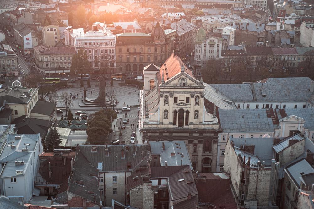 Панорама Костелу Єзуїтів, Львів