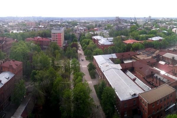Вид со здания Харьковского политеха