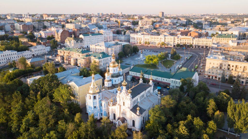 Свято-Покровский монастырь с высоты птичьего полета