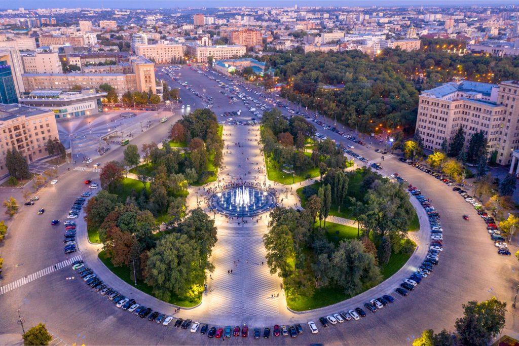 Вид со здания Госпрома