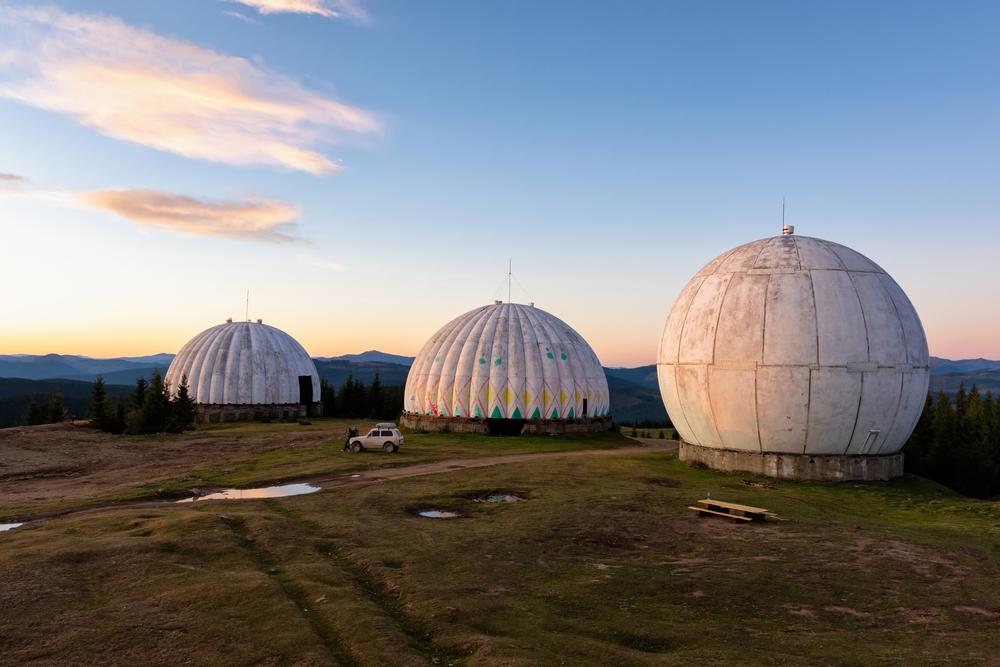 Куполи радіолокаційної станції «Памір»