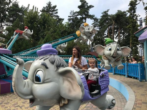 Дитячі атракціони в парку Горького