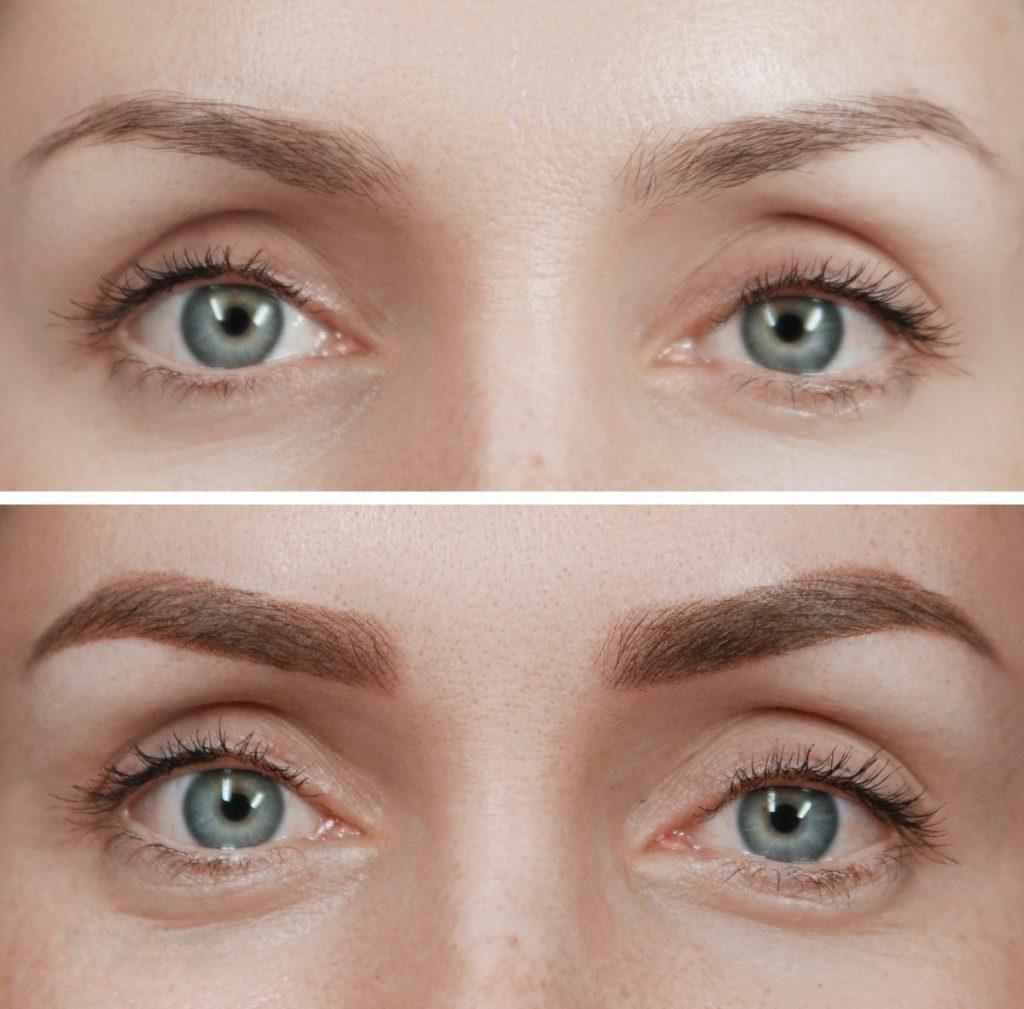 Пудрові брови: ефект до і після