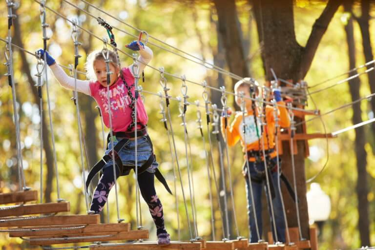 Мотузковий парк подарує дитині яскраві спогади